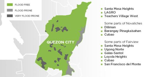 Flood Map In Quezon City