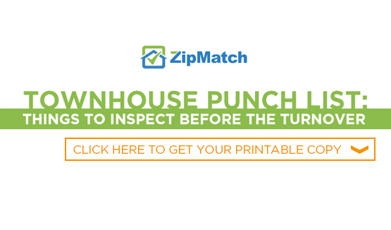 Townhouse Punch List Things To Inspect Before The Turnover