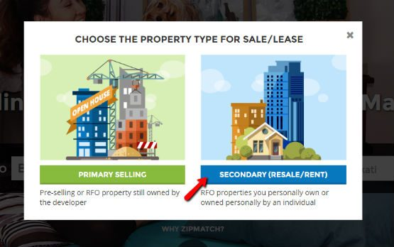 choose property type