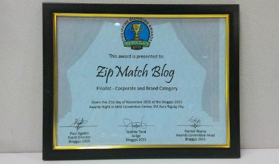 Bloggys ZipMatch Finalist
