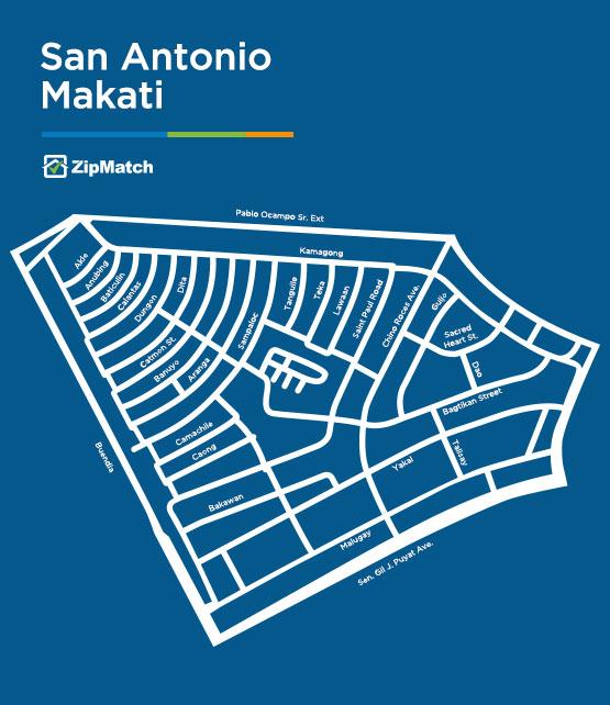 San Antonio Makati Map