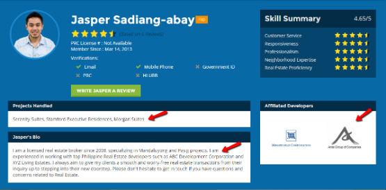 broker profile bio
